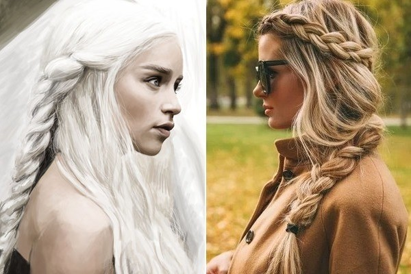 daenerys targaryen hair styles daenerys chunky side braid of thrones inspired 4398 | jS5 ADeLSiol