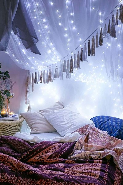 Dreamy String Light Decor You Can Rock Year-Round