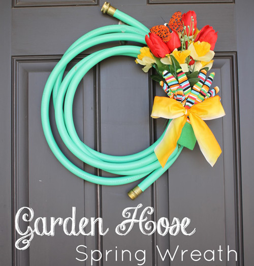 Get creative with a garden hose