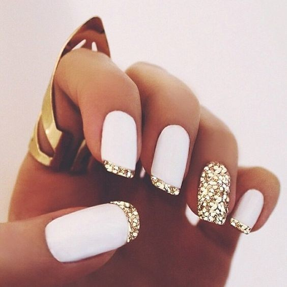 White and Gold Glam