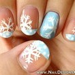 Snowflake Manicure With Tips