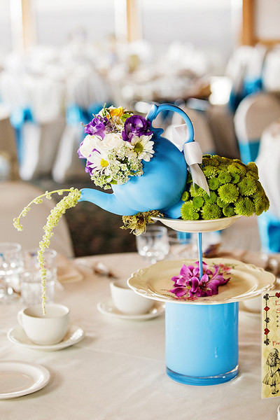 Alice in Wonderland Teapot Center Pieces