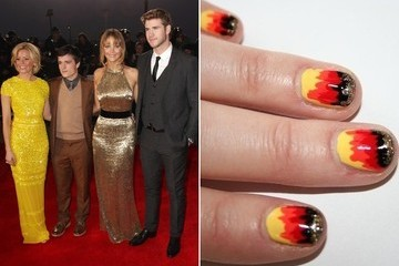 'Hunger Games' Inspires 'Girl On Fire' Manicure