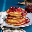 Sweet Potato Pancakes With Cranberry Syrup
