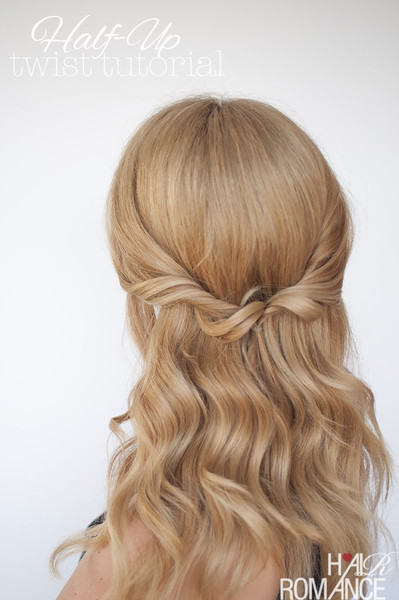 Easy Half-Up Twist