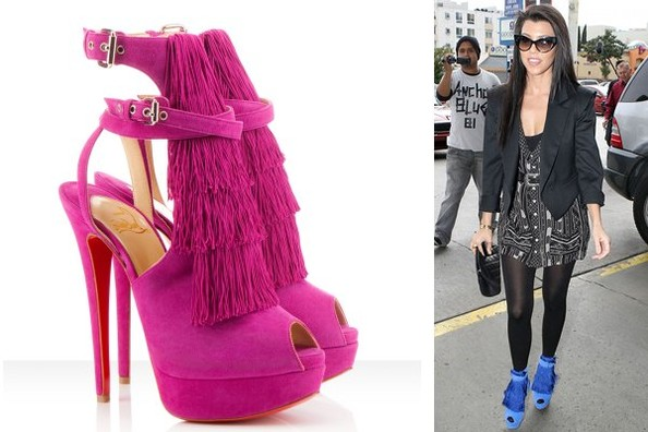 spiked loafers cheap - On Guard: Kourtney Kardashian in Christian Louboutin - Shoe du ...