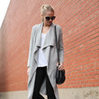 Soft Waterfall Cardigan and Lace-Up Flats