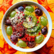 Kiwi Grape Pumpkin Smoothie Bowl