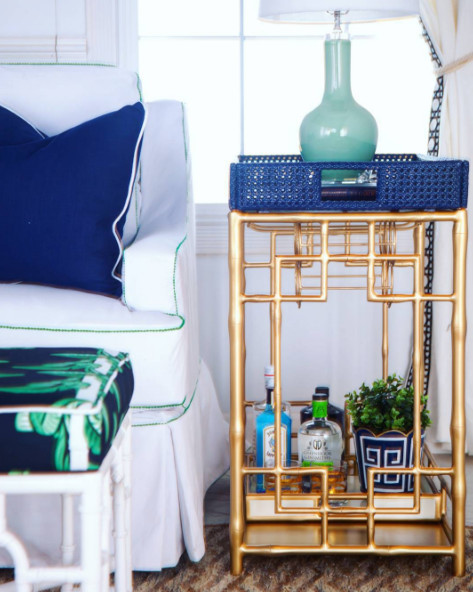 Think Outside Of The Box Or Bar Cart How To Decorate