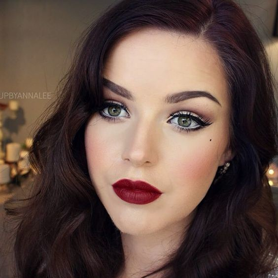 Stunning Burgundy Red Lips