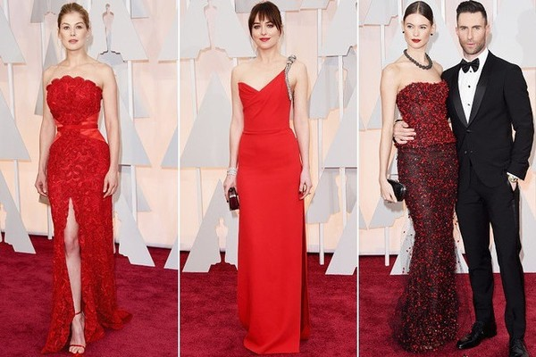 Now Trending: Red Gowns at the Oscars