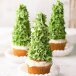 Tall Christmas Tree Cupcakes