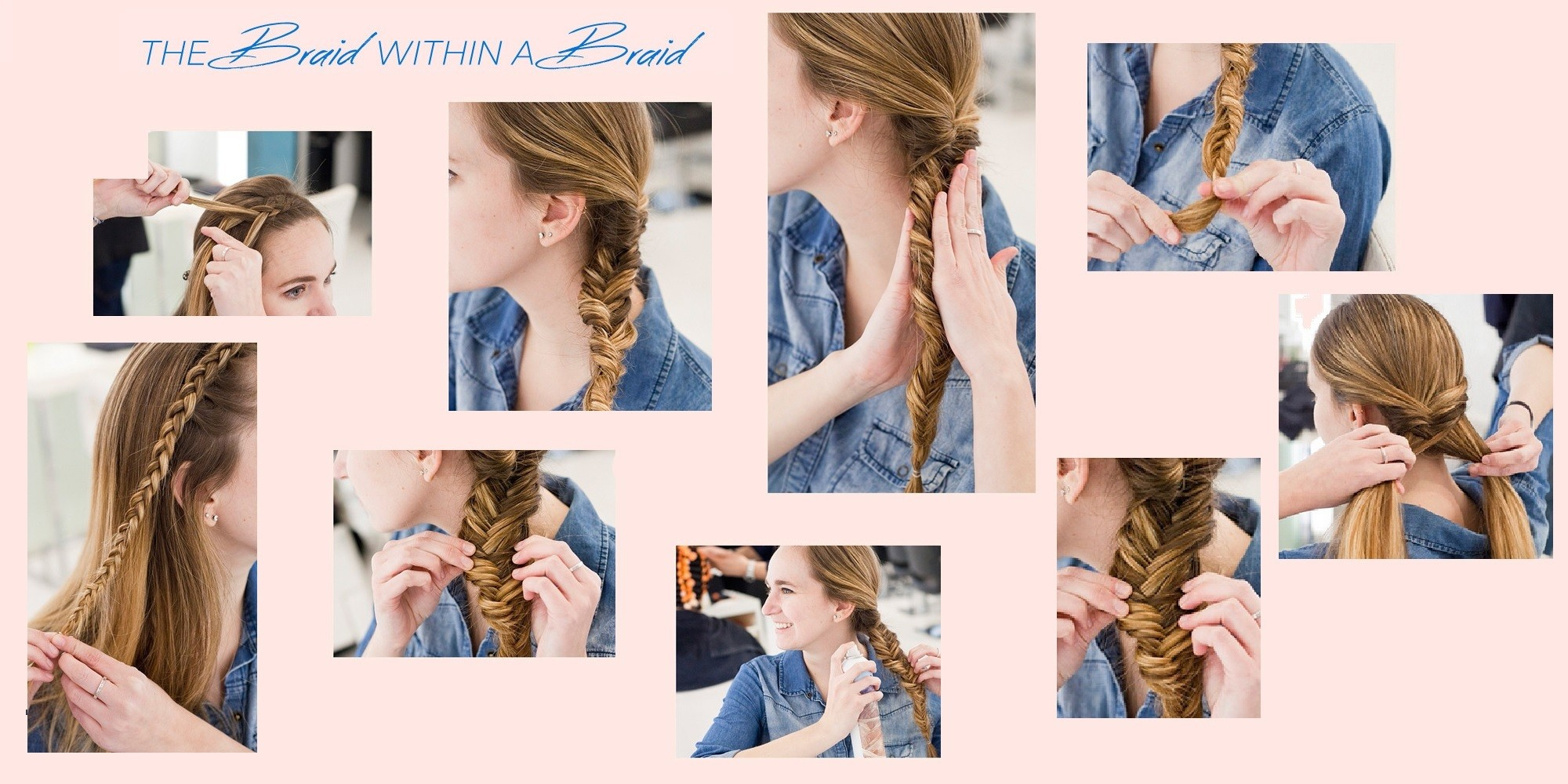 DIY steps for the perfect summer festival hairstyle - braids within a braid.