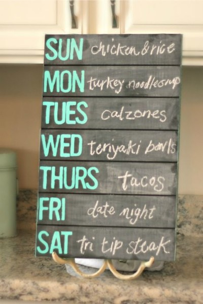 Create a weekly menu and grocery list