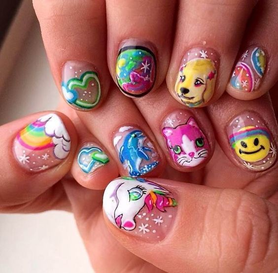 Lisa Frank Inspired - These Cartoon Nail Art Designs Are A Total ...
