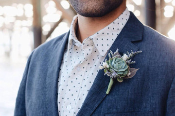 Unique Boutonnieres for the Groom