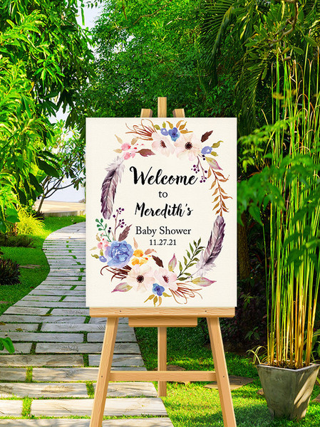 Custom Painted Welcome Sign