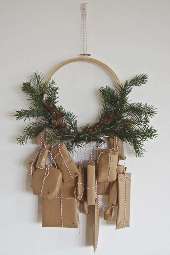 Wreath calendar fun advent calendars to diy for - Pinterest advent ...