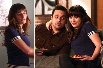 Seeing Double: Zooey Deschanel and Lea Michele Wear the Same Blouse on TV