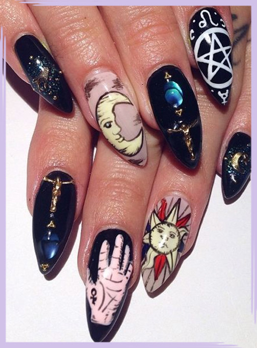 Mystical Nail Designs To Channel Your Inner Witch - Livingly