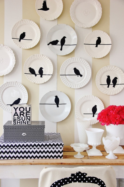DIY Bird Wall Plate