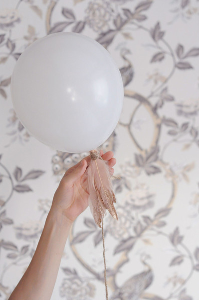 Feather Adorned Balloons