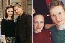 Alexis Bledel & Matt Czuchry Are All Smiles on the Set of the 'Gilmore Girls' Revival