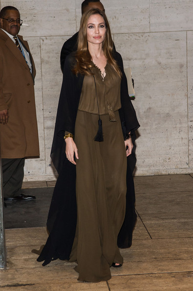 Angelina Jolie's Draped Cape