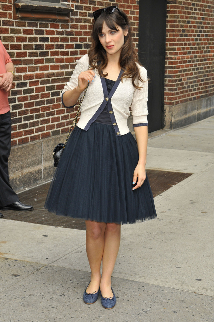 Zooey Deschanel What To Wear With A Tulle Skirt Livingly