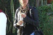 Emily VanCamp Patterned Scarf