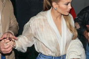 Jennifer Lopez Sheer Top