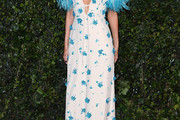 Poppy Delevingne Embroidered Dress