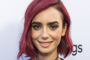 Lily Collins Short Wavy Cut