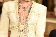 Cara Delevingne Layered Pearl Necklace