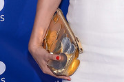Helena Christensen Metallic Clutch