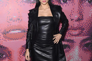 Adriana Lima Leather Dress