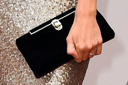 Louise Roe Velvet Clutch