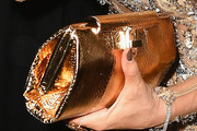 Sofia Vergara Metallic Clutch