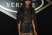 Naomi Campbell Embroidered Dress