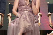 Ashley Judd Embroidered Dress