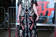 Christina Hendricks Embroidered Dress