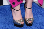 Dakota Fanning Peep Toe Pumps