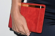 Sophia Bush Suede Clutch