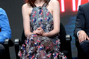 Michelle Dockery Embroidered Dress