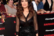 Salma Hayek Sheer Top