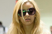 Zahia Dehar Oversized Sunglasses