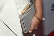 Demi Lovato Metallic Clutch