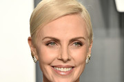 Charlize Theron Short Side Part