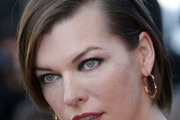 Milla Jovovich Side Parted Straight Cut