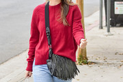Rachel Bilson Tasseled Shoulder Bag